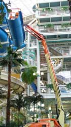 Waterslide blue bullet demolition – Removing a waterslide from a confined area, one section at a time.