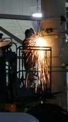 Welders at work – The crew here is always up for a challenge, whether it be time constraints, environmental, or design issues, nothing beats the thrill and accomplishment of a job well done and a customer well satisfied.